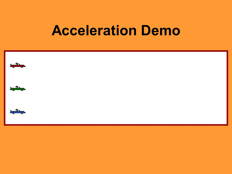 Acceleration Demo