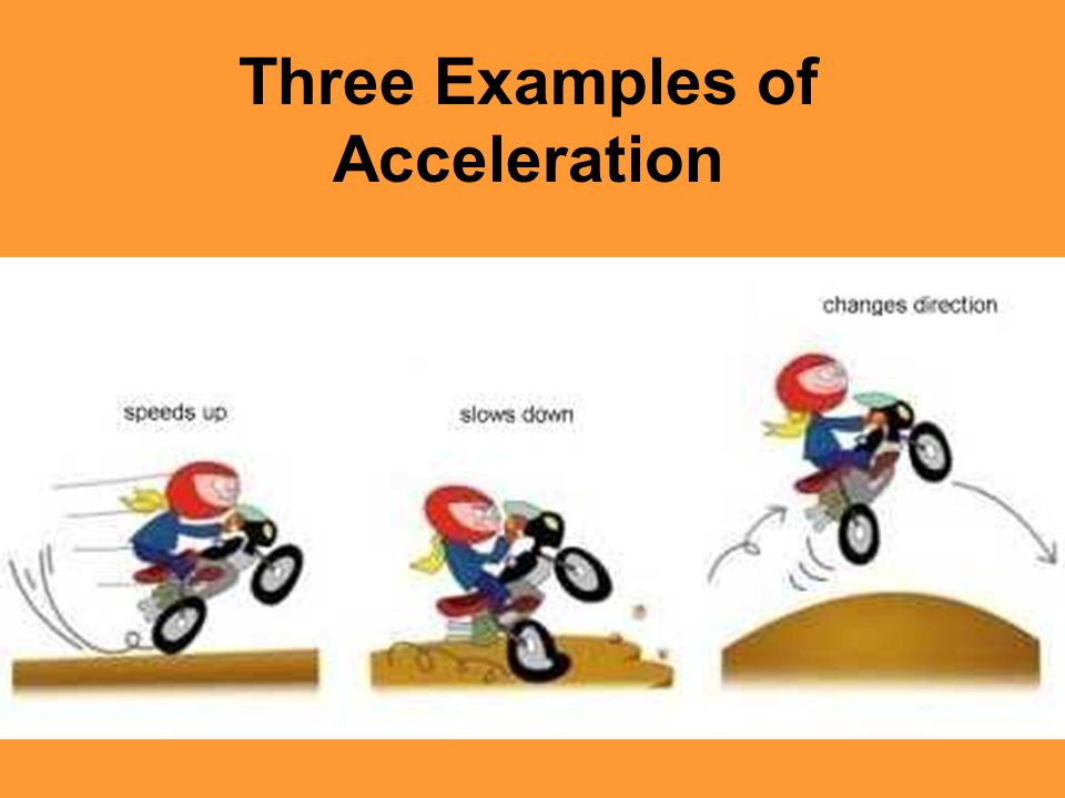 Three Examples of Acceleration