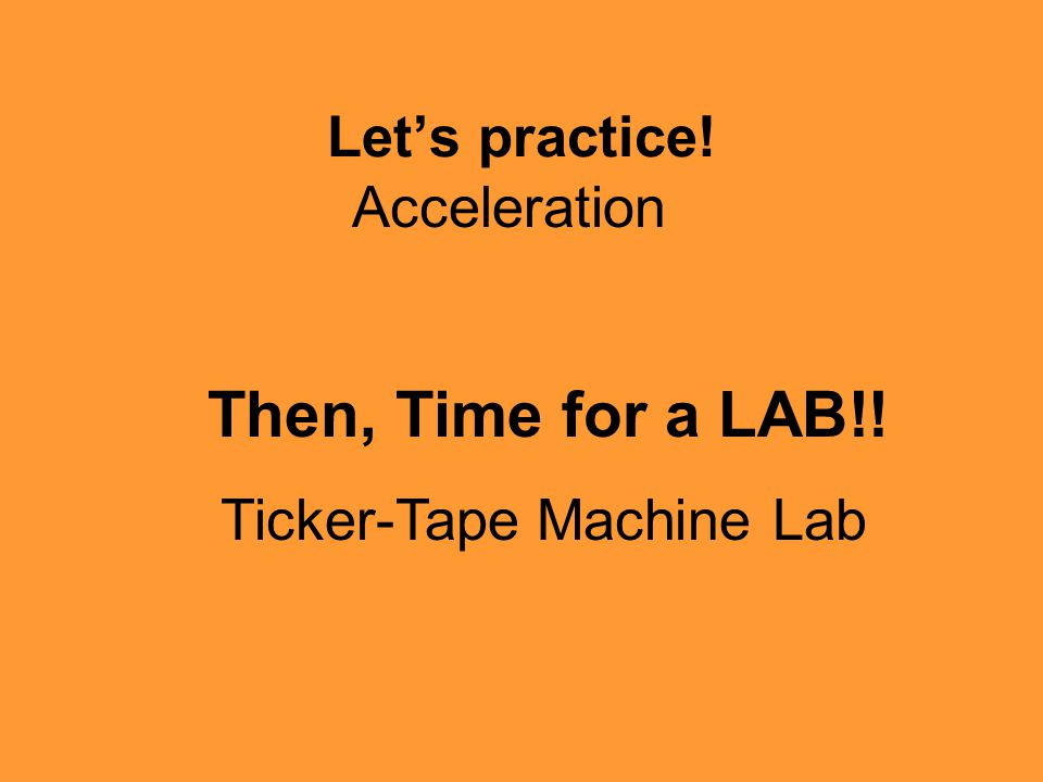 Ticker-Tape Machine Lab