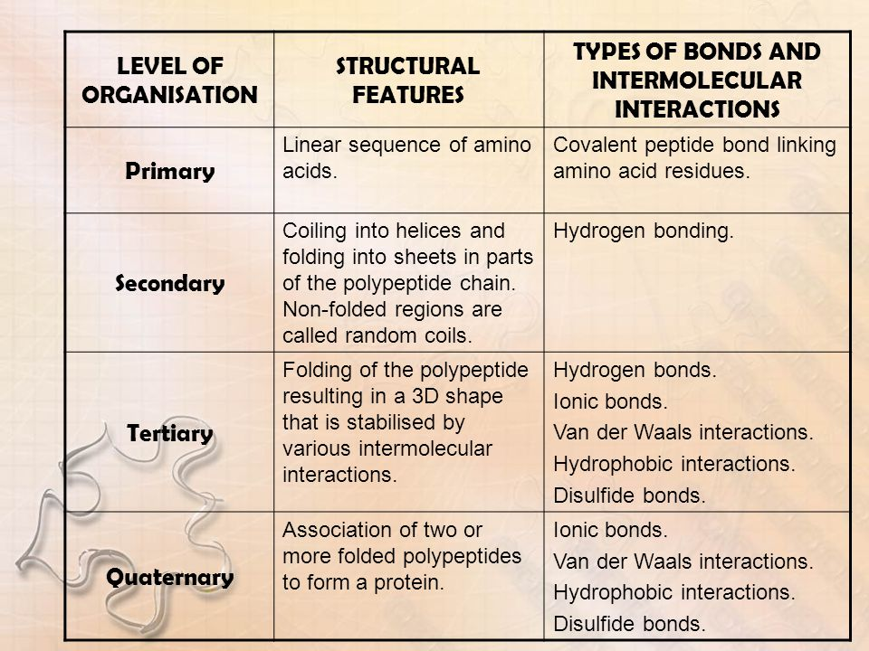 TYPES OF BONDS AND INTERMOLECULAR INTERACTIONS