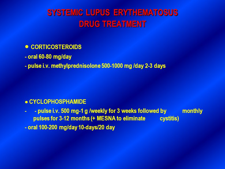 SYSTEMIC LUPUS ERYTHEMATOSUS DRUG TREATMENT