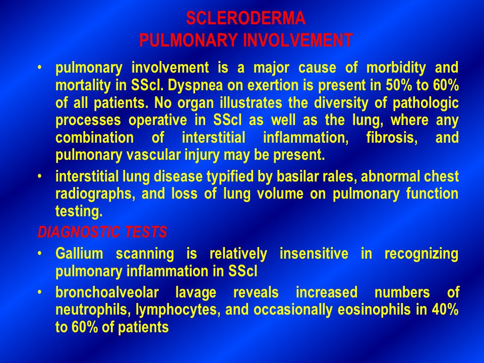 SCLERODERMA PULMONARY INVOLVEMENT