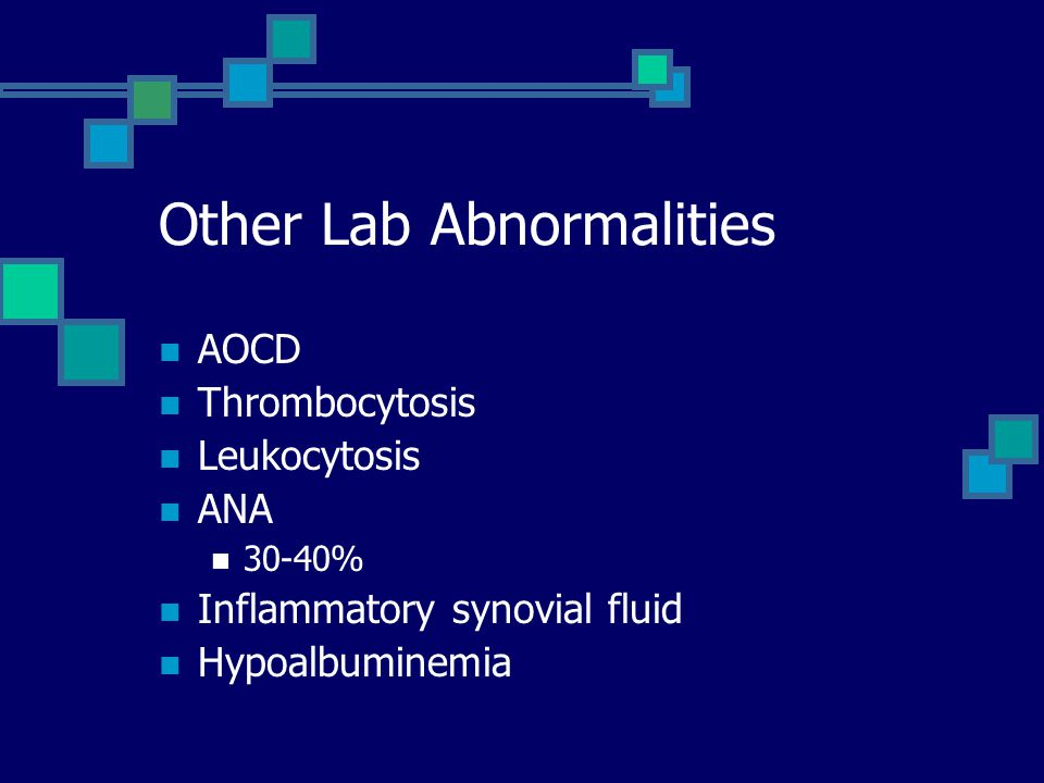 Other Lab Abnormalities
