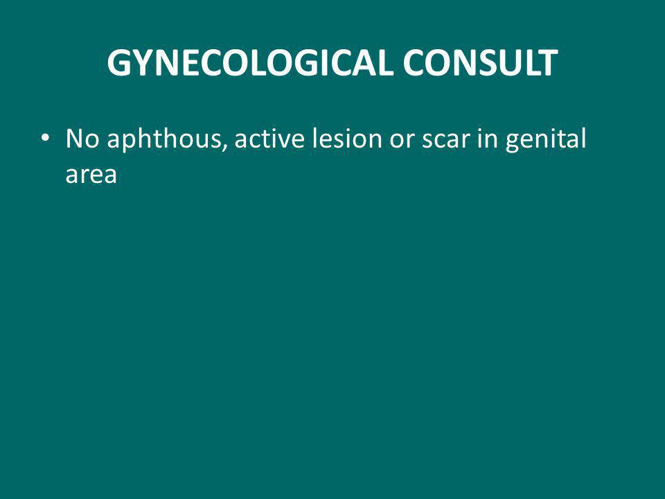 GYNECOLOGICAL CONSULT