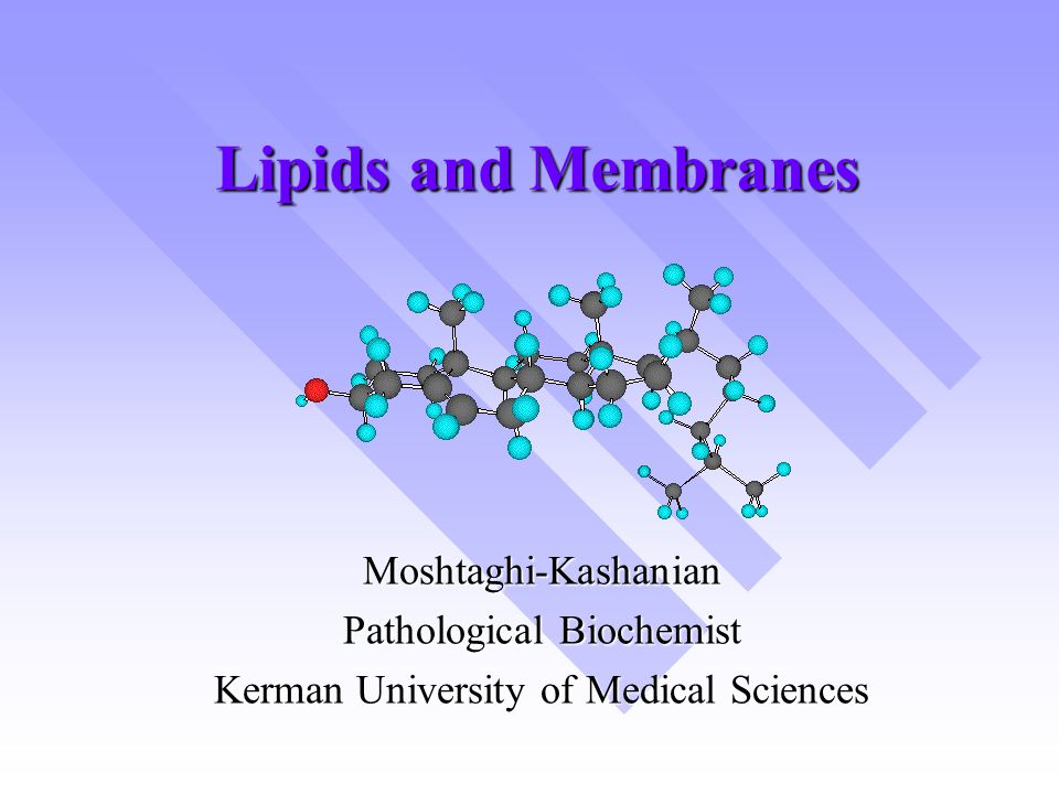 Lipids and Membranes Moshtaghi-Kashanian Pathological Biochemist