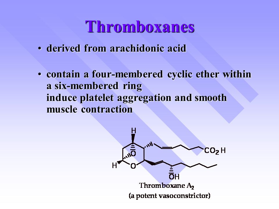 Thromboxanes derived from arachidonic acid