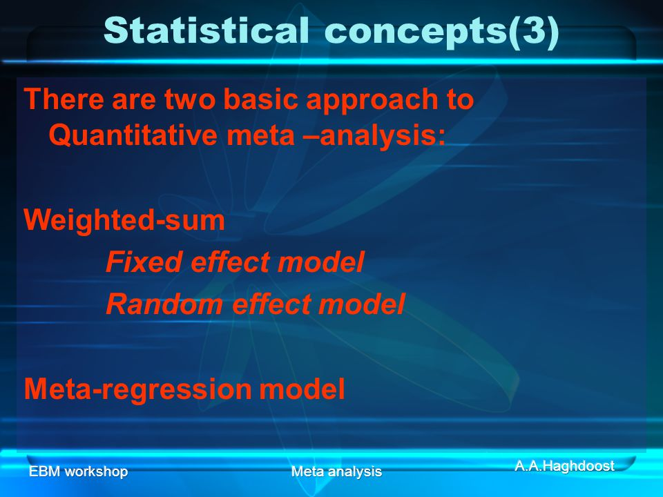 Statistical concepts(3)