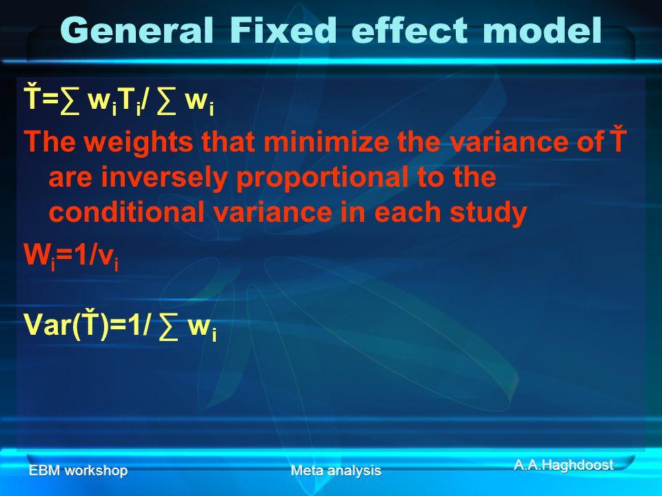 General Fixed effect model