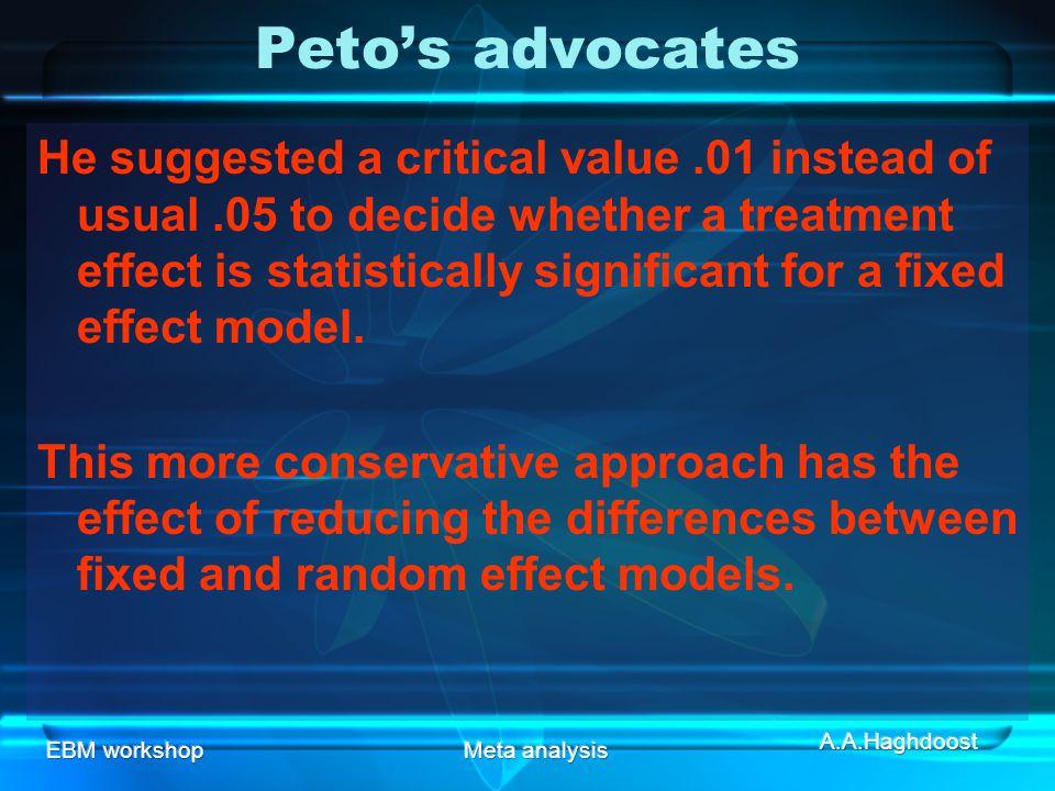 Peto's advocates