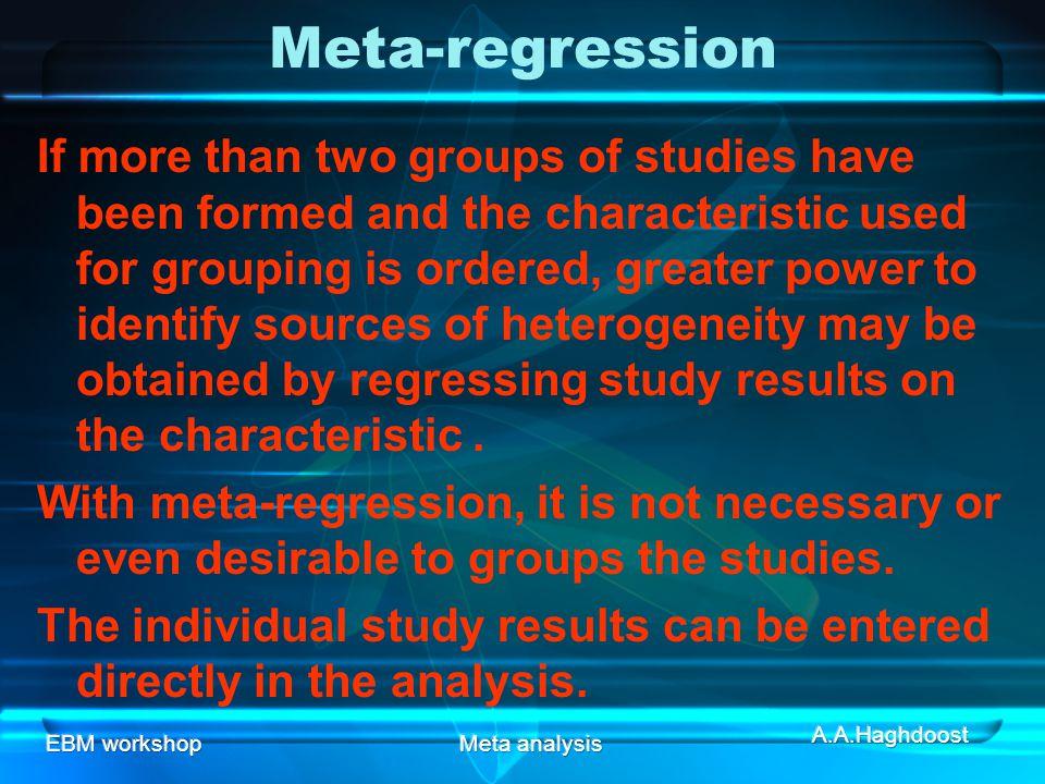 Meta-regression