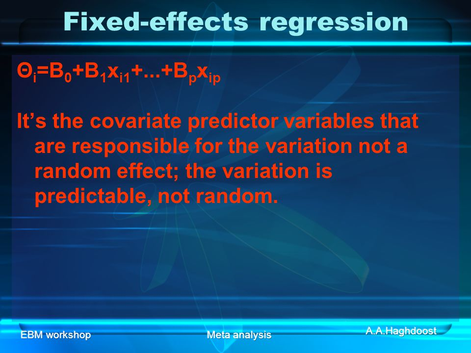 Fixed-effects regression