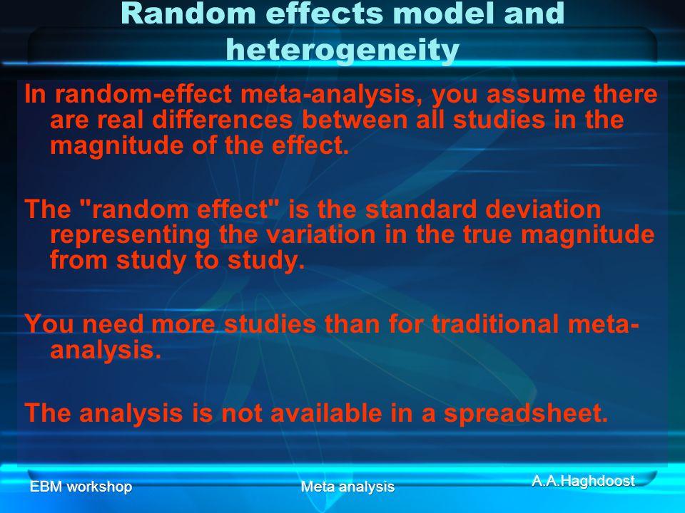 Random effects model and heterogeneity