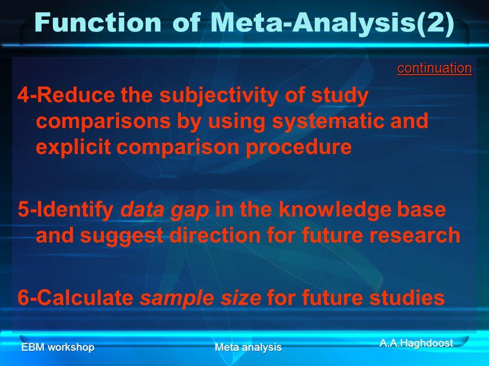 Function of Meta-Analysis(2)