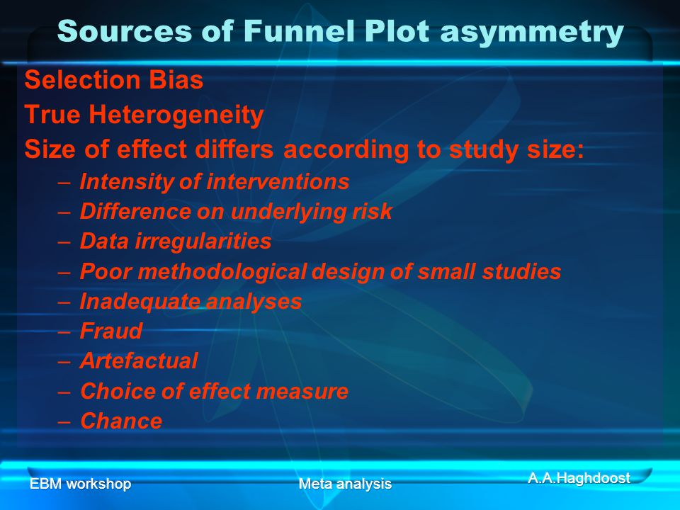 Sources of Funnel Plot asymmetry