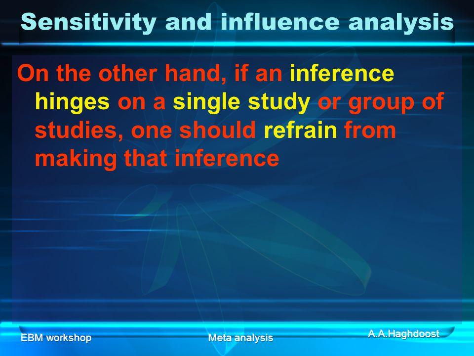 Sensitivity and influence analysis