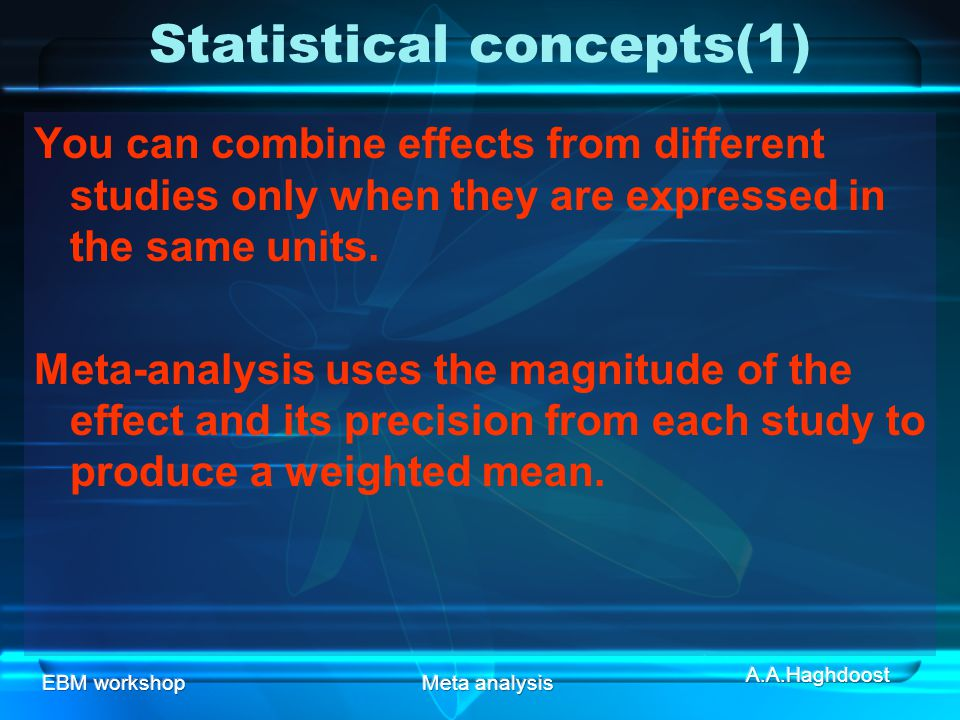 Statistical concepts(1)