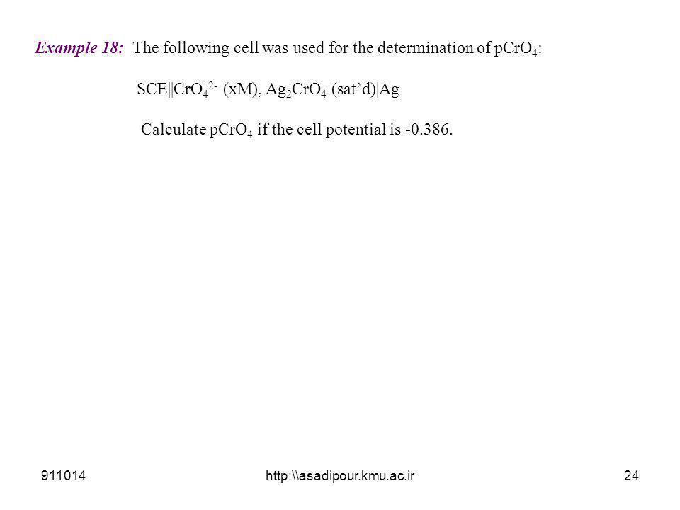 SCE||CrO42- (xM), Ag2CrO4 (sat'd)|Ag