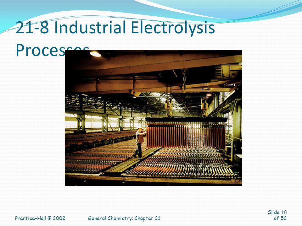 21-8 Industrial Electrolysis Processes
