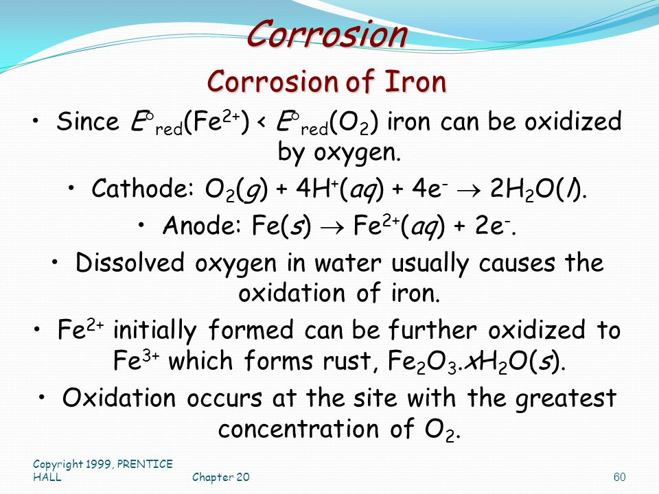 Corrosion Corrosion of Iron