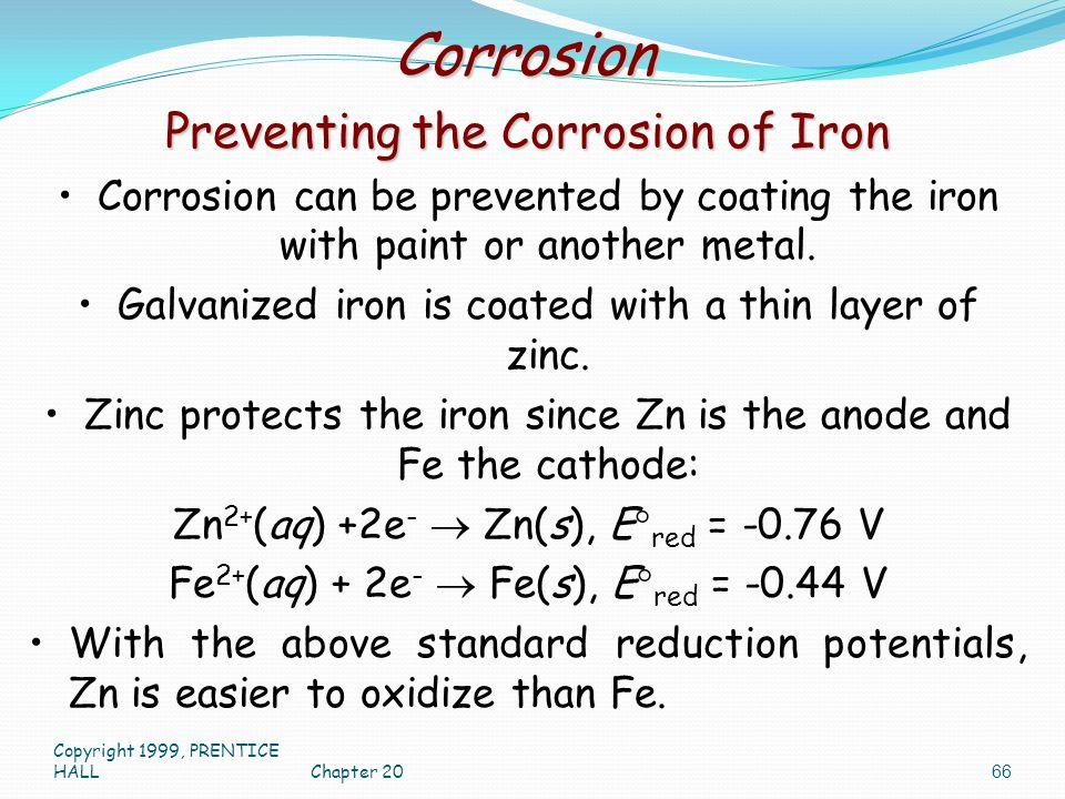 Corrosion Preventing the Corrosion of Iron