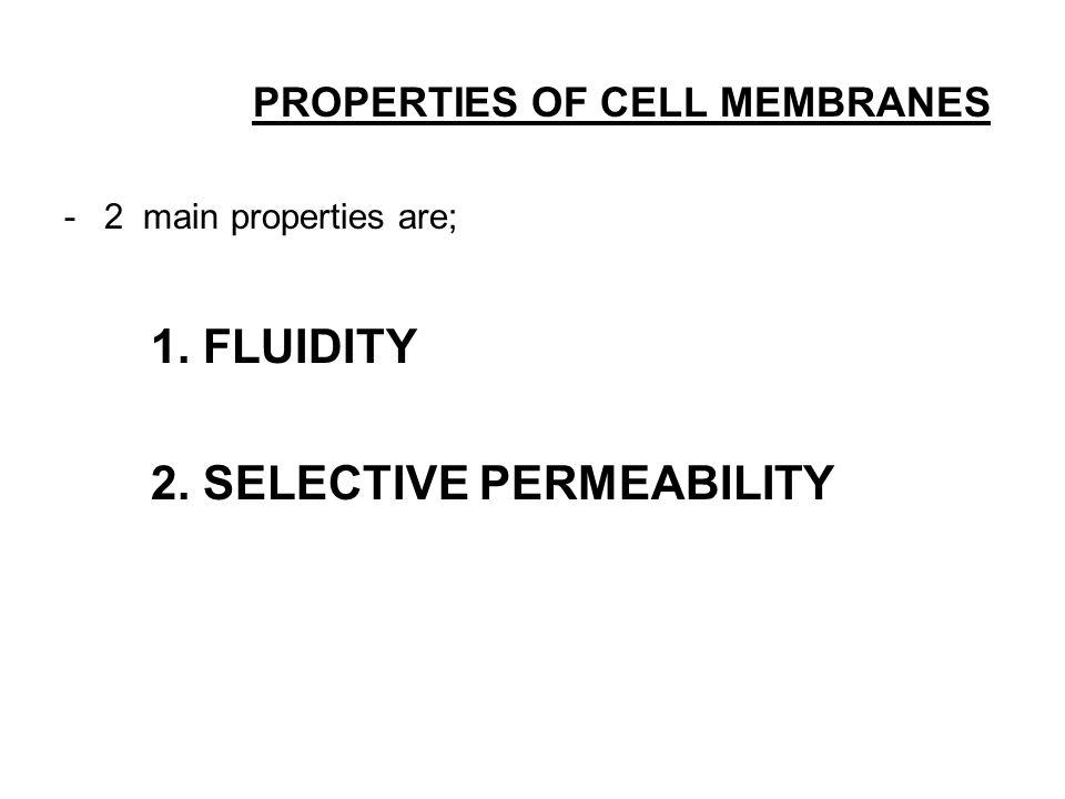 2. SELECTIVE PERMEABILITY