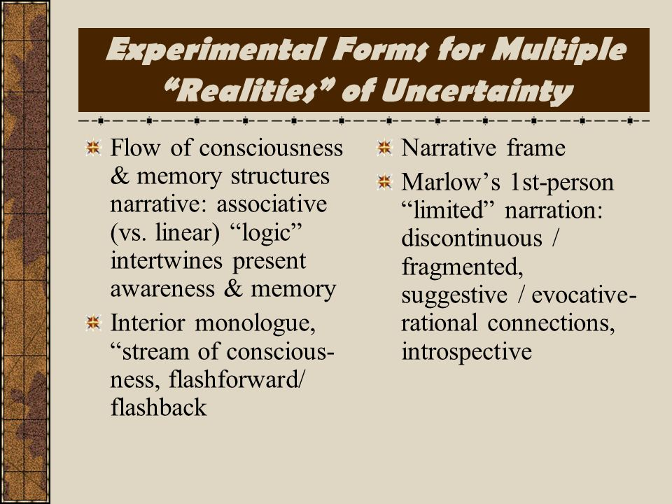 Experimental Forms for Multiple Realities of Uncertainty