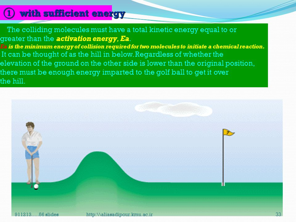 ① with sufficient energy