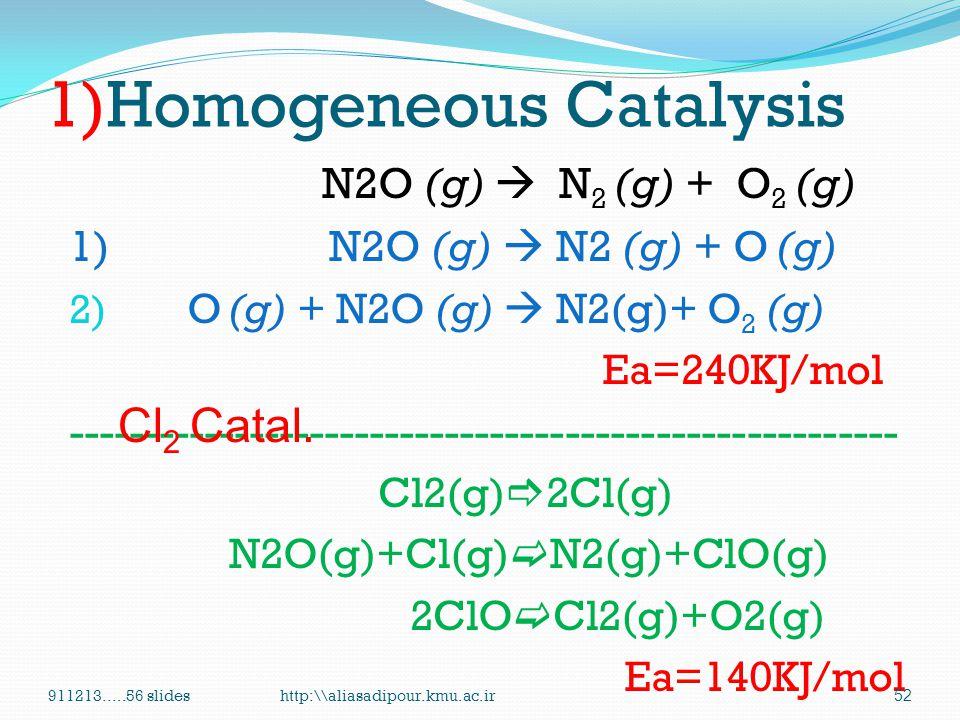 1)Homogeneous Catalysis
