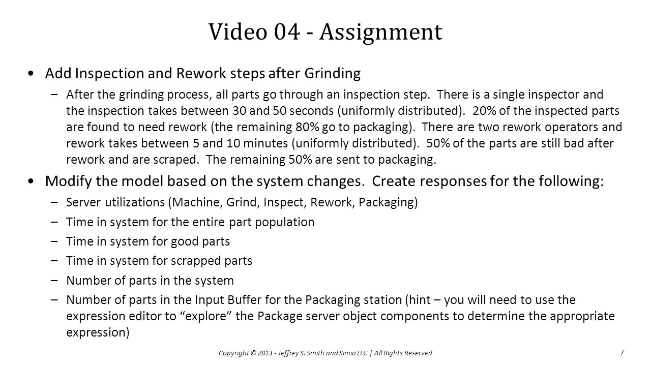 Video 04 - Assignment Add Inspection and Rework steps after Grinding