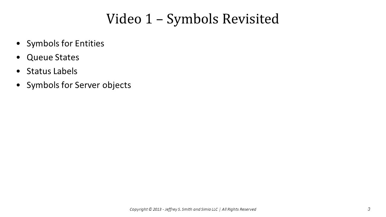 Video 1 – Symbols Revisited