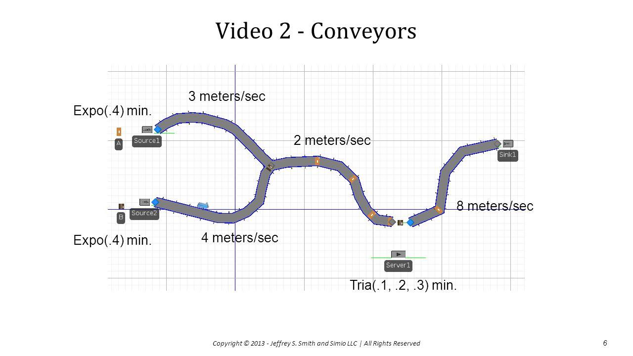 Video 2 - Conveyors 3 meters/sec Expo(.4) min. 2 meters/sec