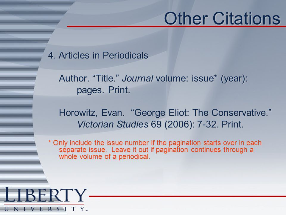 Other Citations 4. Articles in Periodicals