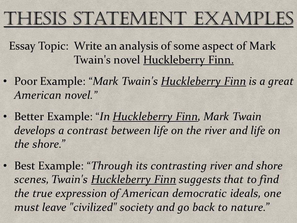 an imagery example in huckelberry finn essay