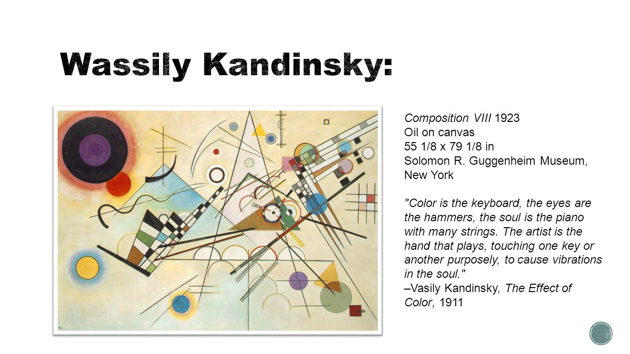 Wassily Kandinsky: Composition VIII 1923 Oil on canvas