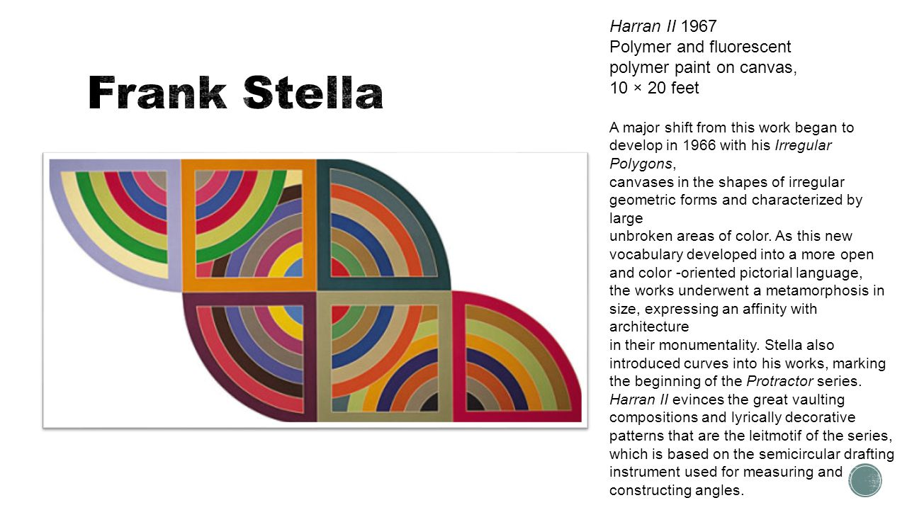 Frank Stella Harran II 1967 Polymer and fluorescent