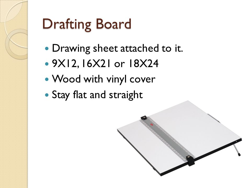 Drafting Board Drawing sheet attached to it. 9X12, 16X21 or 18X24