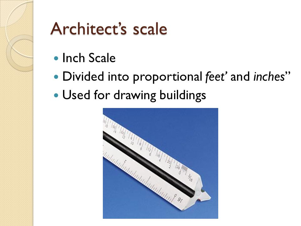 Architect's scale Inch Scale
