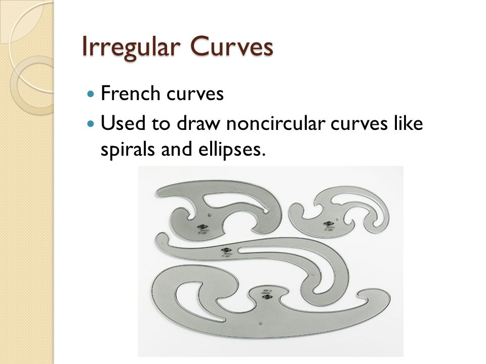 Irregular Curves French curves