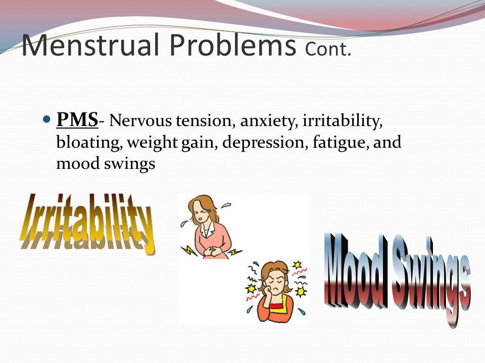 Menstrual Problems Cont.