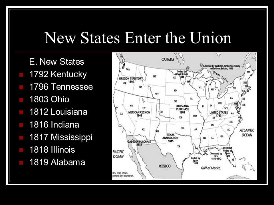 New States Enter the Union