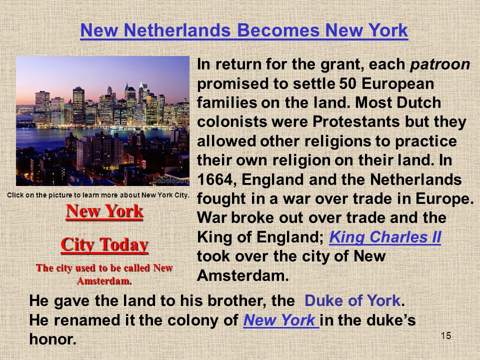 New Netherlands Becomes New York