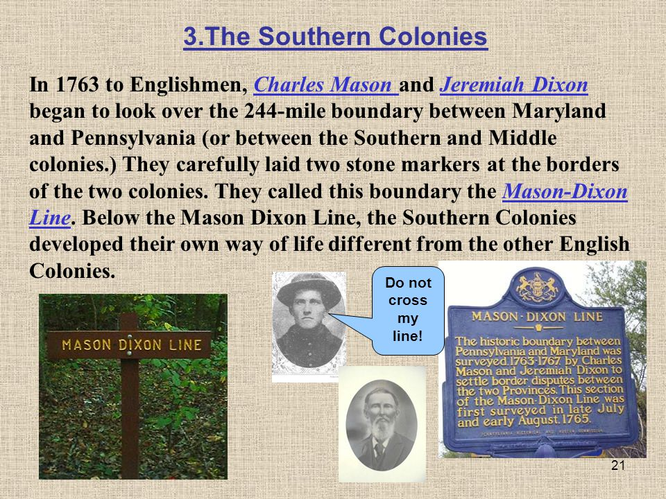 3.The Southern Colonies