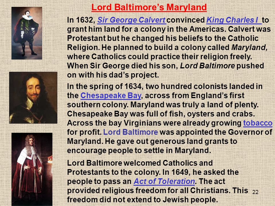 Lord Baltimore's Maryland