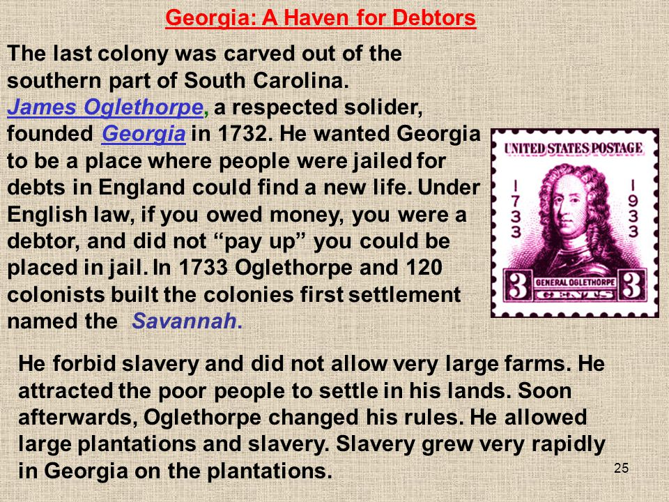 Georgia: A Haven for Debtors