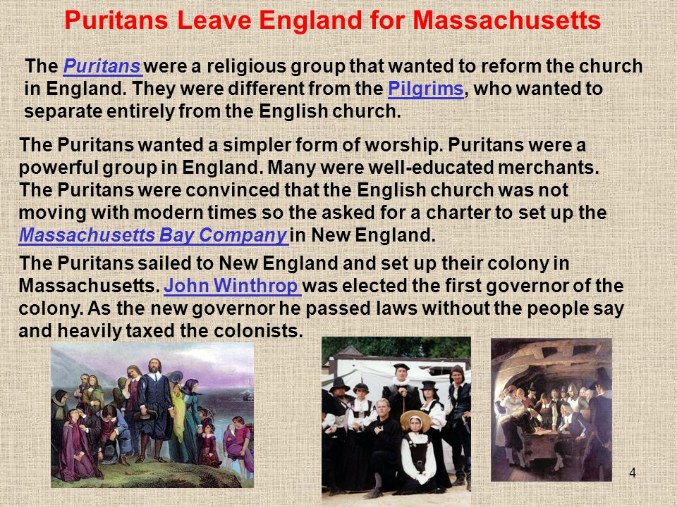Puritans Leave England for Massachusetts