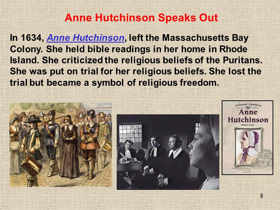 Anne Hutchinson Speaks Out