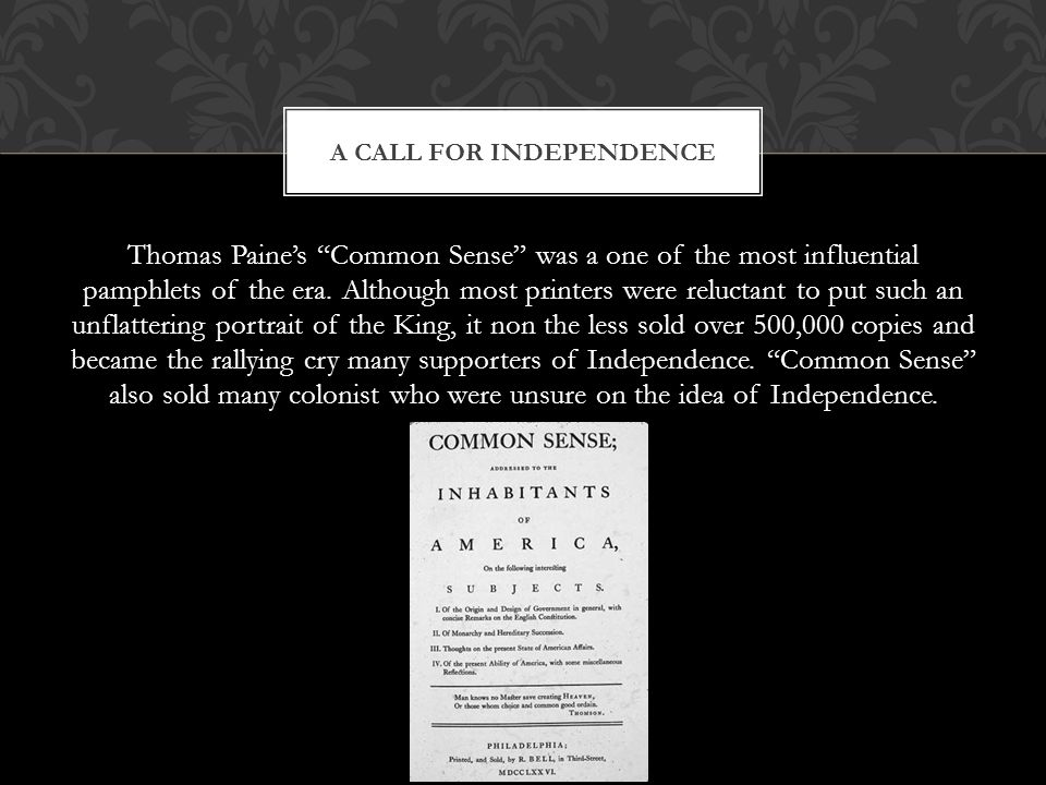 A call for Independence