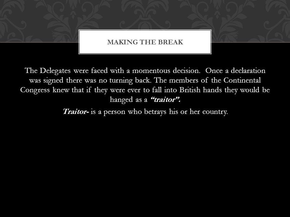 Making the Break