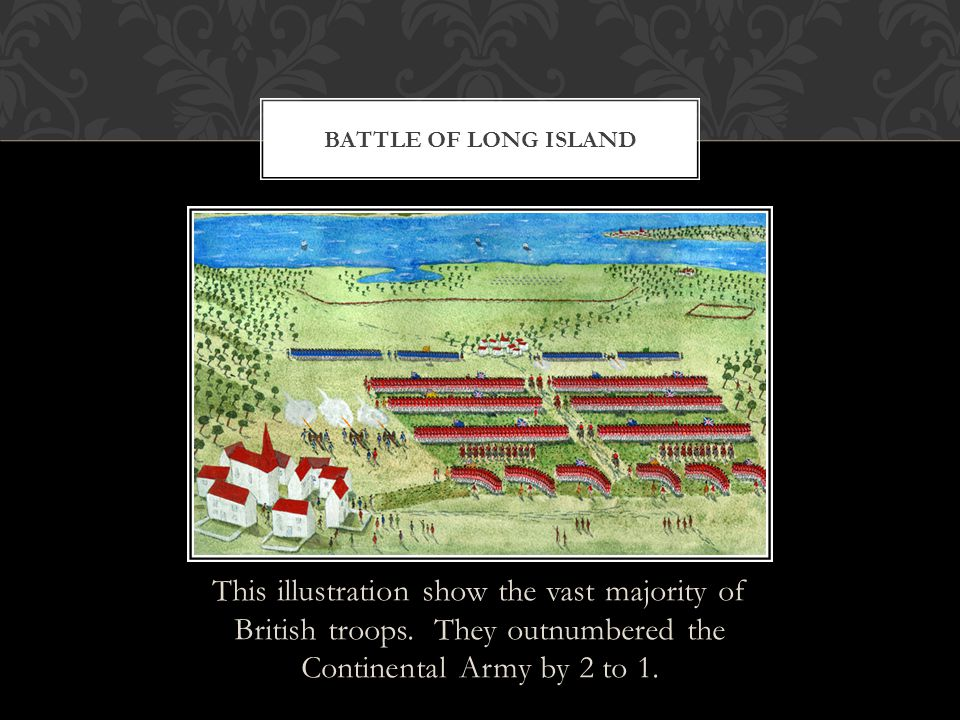 Battle of long island This illustration show the vast majority of British troops.