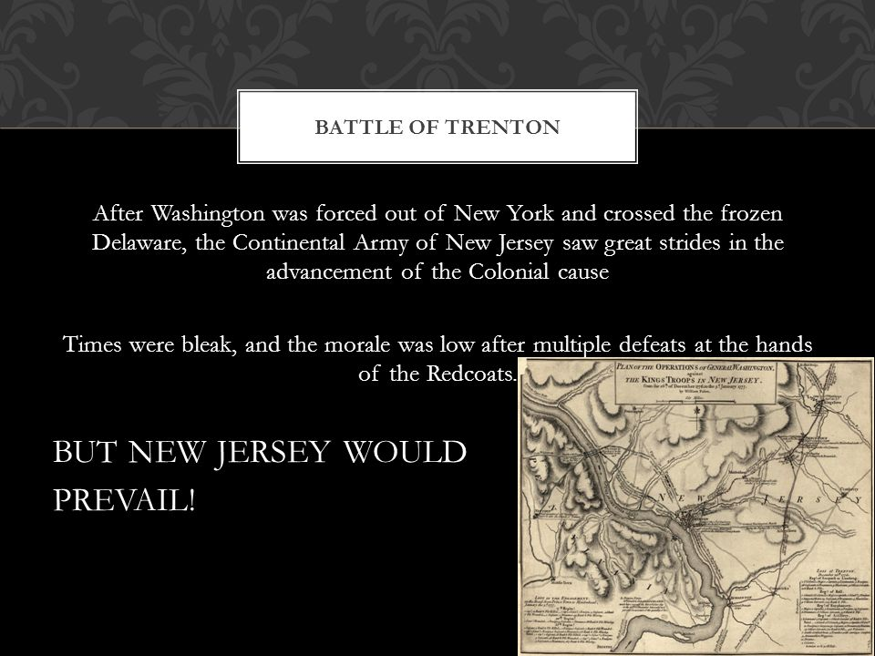 BUT NEW JERSEY WOULD PREVAIL!